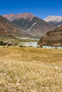 Farmland the of highland barley tibet china Stock Photo