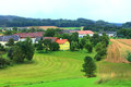 The farmland in the village in austria Stock Photography