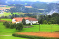 The farmland in the village in austria Royalty Free Stock Images