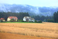 The farmland in the village in austria Royalty Free Stock Image