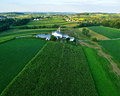 Farms and fields of lancaster county pa Royalty Free Stock Photo