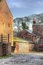 Farmyard a traditional english this one is in temple newsam park leeds yorkshire england Stock Image