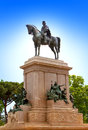 Faro de gianicolo giuseppe garibaldi s horse monument in rome italy cityscape a sunny day Royalty Free Stock Photo