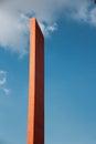 Faro del Comercio tower Royalty Free Stock Photo