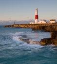 Faro di Portland Bill, Dorset, Regno Unito Fotografie Stock