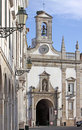 Faro old village entry arc, Algarve, Portugal Royalty Free Stock Photography