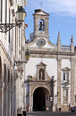 Faro old village entry arc, Portugal Royalty Free Stock Photo
