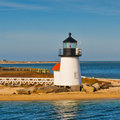 Farol Nantucket Massachusetts E.U. do ponto de Brant Foto de Stock Royalty Free