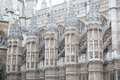 Fasad av westminster abbey church london Royaltyfria Bilder