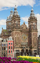 Fasade of Church of St Nicholas,  Amsterdam Stock Image