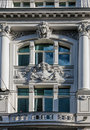 Fasade facade of art nouveau buildings in berlin germany Stock Photography