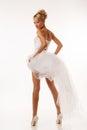 Fascinating standing bride studio shoot Royalty Free Stock Photo