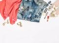 Fashion accessories, cosmetics, jewelry, shoes. Hero header