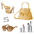 Fashion accessories isolated on white Stock Images