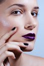 Fashion art portrait creative makeup close up Royalty Free Stock Photo