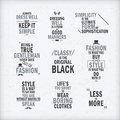 Fashion attitude quotes set Royalty Free Stock Photo