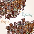 Fashion background with swirl ornament in indian style vector for design Royalty Free Stock Image