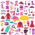 Fashion and beauty icons Royalty Free Stock Image