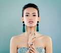 Fashion Beauty Portrait of Cute Young Woman Royalty Free Stock Photo