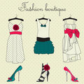 Fashion boutique set