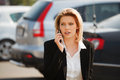 Fashion business woman calling on the cell phone Royalty Free Stock Photo