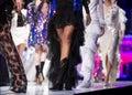 Fashion catwalk runway show female models Royalty Free Stock Photo