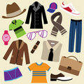 Fashion clothes and accessories Royalty Free Stock Image