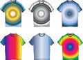Fashion clothes color t-shirt shape illustration Stock Image