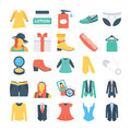 Fashion and Clothes Colored Vector Icons 4