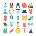 Fashion and Clothes Colored Vector Icons 5