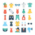 Fashion and Clothes Colored Vector Icons 6
