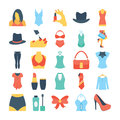 Fashion and Clothes Colored Vector Icons 7