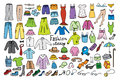 Fashion and clothing color icons collection Royalty Free Stock Photo
