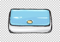 Fashion Clutch Bag or Purse Flat Theme Art Style