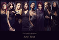 Fashion collage of young women in erotic clothes Royalty Free Stock Photo