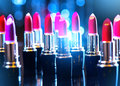 Fashion colorful lipsticks. Professional makeup Royalty Free Stock Photo