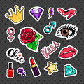 Fashion colorful stickers collection