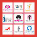 Fashion company logos Royalty Free Stock Photo