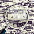 Fashion concept related words in tag cloud conceptual info text graphic word collage Stock Photos