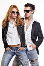 Fashion couple Royalty Free Stock Photo