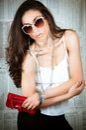 Fashion Eighties Model Royalty Free Stock Image