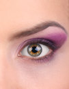 Fashion eye, long eyelashes Stock Photos