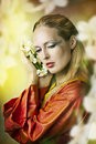 Fashion fairytale portrait of beautiful woman Stock Photography