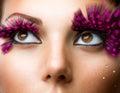 Fashion False Eyelashes Royalty Free Stock Photo