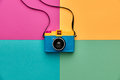 Fashion Film Camera. Hot Summer Vibes. Pop Art Royalty Free Stock Photo