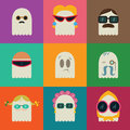 Fashion ghosts vector set of funny Royalty Free Stock Photography