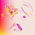Fashion girl with abstract make up for your design Royalty Free Stock Photo