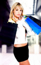 Fashion girl out shopping Stock Photography
