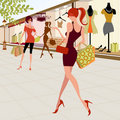 Fashion girls Stock Photo