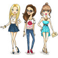 Fashion girls Royalty Free Stock Photos